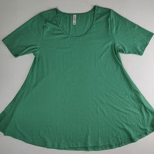 Lularoe Perfect T swing shirt solid green